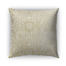 Tiles Burlap Indoor/Outdoor Throw Pillow by Kavka