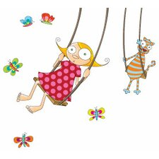 Ludo Swing Girl Wall Decal