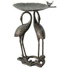 Heron Lily Birdbath