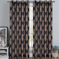 Paisley Sheer Grommet Curtain Panels (Set of 2)