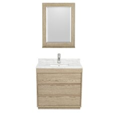 Naya 36 Single Ash Gray Bathroom Vanity Set with Mirror by Wyndham Collection