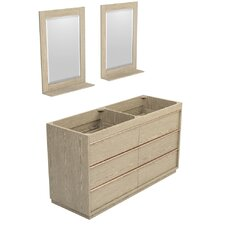 Naya 59 Double Bathroom Vanity Base by Wyndham Collection