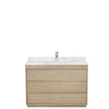 Naya 48 Single Ash Gray Bathroom Vanity Set by Wyndham Collection