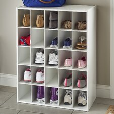 25-Compartment Shoe Rack