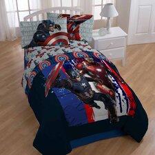 Captain America 'Civil War Lightning' Reversible Twin Comforter