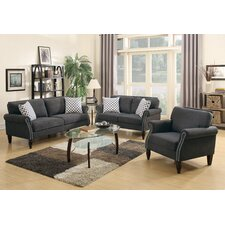 Bobkona Faymoor 3 Piece Living Room Set