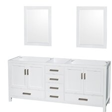Sheffield 79 Double Bathroom Vanity Base by Wyndham Collection