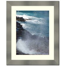 "Stainless Steel Finished 2"" Wide Wall Picture Frame"