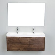 "Genevieve Modern 48"" Double Bathroom Vanity Set"