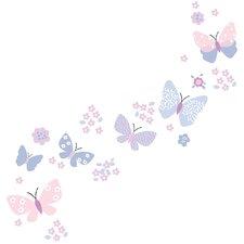 50 Piece Butterfly Medow Wall Decal Set
