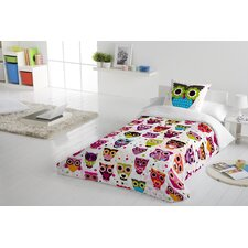 Owls 2 Piece Twin Duvet Cover Set