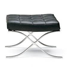 Leather Ottoman by Malik Gallery Collection