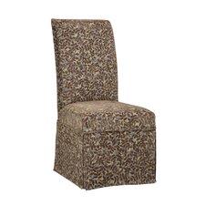 Lucinda Leaves Parson Chair Skirted Slipcover by Charlton Home®