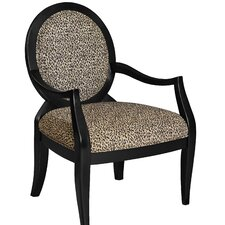 Lucinda Leopard Fabric Armchair by Charlton Home