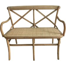 Sonoma Crossback Wood Kitchen Entryway Bench by Commercial Seating Products