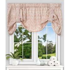 "Breckan Ikat Check Tie-up 60"" Curtain Valance"