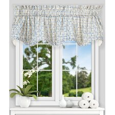 "Breckan Ikat Check Lined Scallop 70"" Curtain Valance"