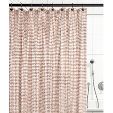 Breckan Ikat Check 100% Cotton Shower Curtain