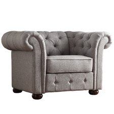 Augustine Tufted Button Club Chair by House of Hampton®