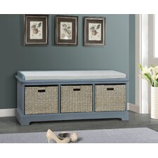 Fleming Wooden Entryway Bench by Beachcrest Home