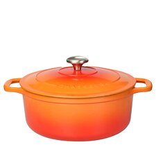 1.8L Cast Iron Round Casserole with Lid