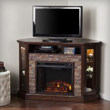 "Montpelier Corner Convertible 52"" TV Stand with Electric Fireplace"