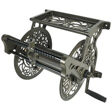 Wall Mounted Cast Aluminum Hose Reel by Liberty Garden.