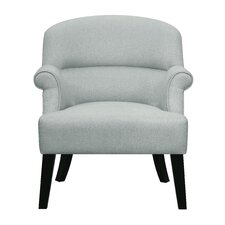 Willow Oak Upholstered Roll Armchair by Beachcrest Home