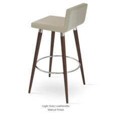 "Dallas Wood 24"" Bar Stool with Cushion"