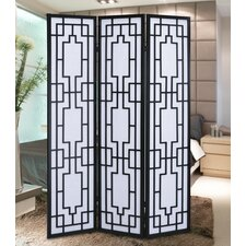 70.31 x 52 Sudoku Screen 3 Panel Room Divider by Roundhill Furniture
