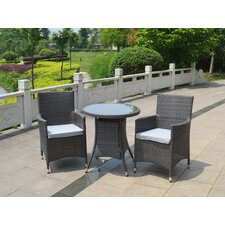 Cannes 2 Seater Bistro Set with Cushions