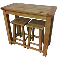 Bretagne 3 Piece Pub Table Set