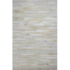 Wright Cow Hide Ivory Area Rug