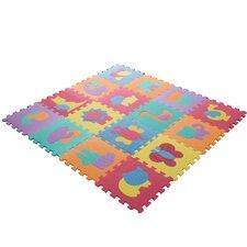 Foam Floor Animal Puzzle Learning 54 Piece Floor Mat