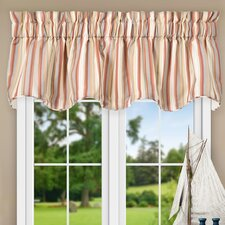 "Jaden Stripe 70"" Lined Scallop Curtain Valance"