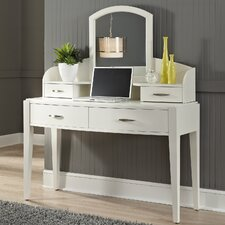 """Loveryk 49"""" W Writing Desk with Hutch and Mirror"""