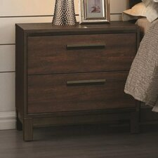 Zech 2 Drawer Nightstand