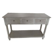 Wood Louvered Console Table by Attraction Design Home