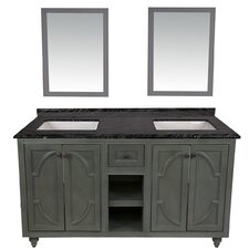 Odyssey 60 Double Bathroom Vanity Set with Mirror by LUXE by Deluxe Vanity