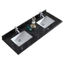 """Wimbledon 60"""" Double Bathroom Vanity Top"""