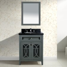 Grazia 30 Single Bathroom Vanity Set with Mirror by LUXE by Deluxe Vanity