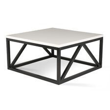 Kaya Two Toned Wood Square Coffee Table by Kate and Laurel