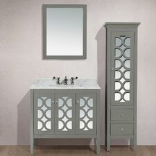 Mediterraneo 36 Single Bathroom Vanity Set with Mirror by LUXE by Deluxe Vanity