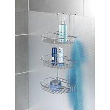 Wandmontierter Duschkorb aus Chrom