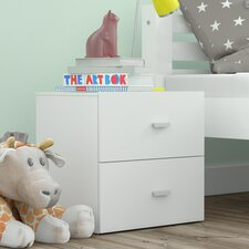 Cubo 2 Drawer Bedside Table