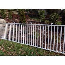 4' x 7' Birkdale Semi-Permanent Vinyl Garden Fence
