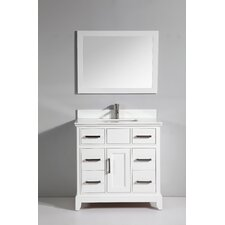 "Phoenix Stone 36"" Single Bathroom Vanity with Mirror"
