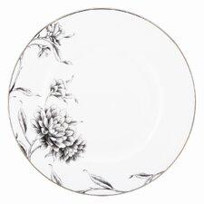 """Floral Illustrations 10.75"""" Dinner Plate"""