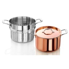 Rain 7.5 qt. Tri-Ply Copper Clad Induction Ready Stock Pot with Lid