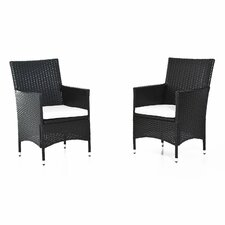 Rattan Dining Chair with Cushion (Set of 2)